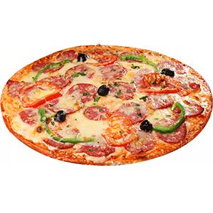 Пицца с колбасой салями