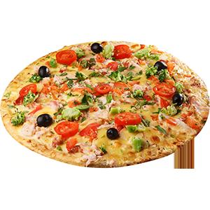 Пицца с копченым окорочком и брокколи