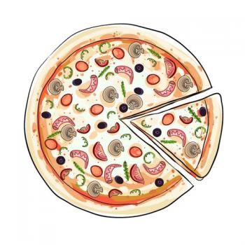 Пицца с грибами и беконом !!!Новинка!!!